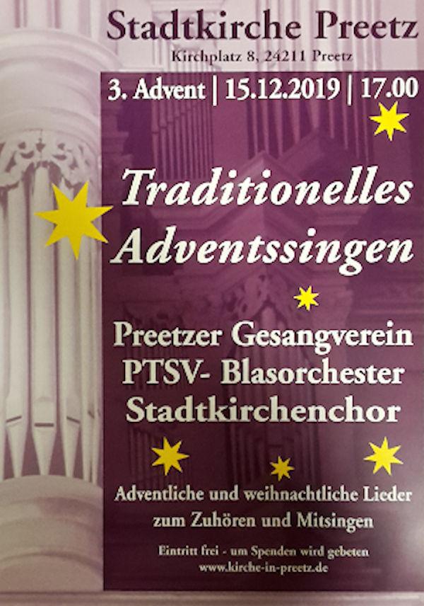 Plakat für Konzert in der Stadtkirche